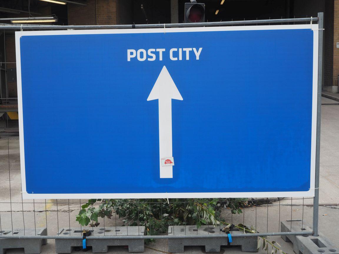 Post City Schild