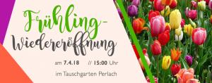 Einladung zur Frühlingseröffnung des Tauschgartens Perlach
